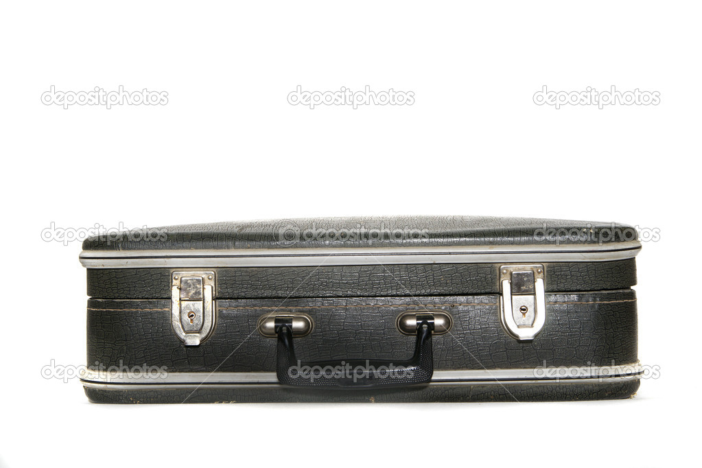 Vintage suitcase over a white background — Stock Photo #11444682