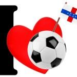 I love soccer ball — Stock Photo #10881415