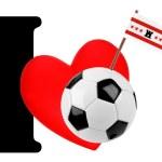 I love soccer ball — Stock Photo #10882032
