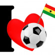 I love soccer ball — Foto de Stock