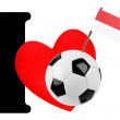 I love soccer ball — Foto Stock
