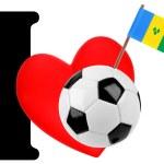 I love soccer ball — Stock Photo #10883438