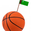 Volley-ball with a national flag — Stock Photo #11210127