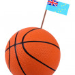 Volley-ball with a national flag — Stock Photo #11210133