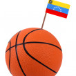 Volley-ball with a national flag — Stock Photo #11210402