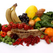 Fruits and vegetables in a basket — Stock Photo #11263205