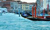 Venice view with gondolas — Stock Photo