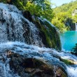 Stock Photo: Small waterfall (closeup) in Plitvice Lakes National Park (Croat