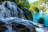Small waterfall (closeup) in Plitvice Lakes National Park (Croat — Stock Photo