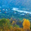 Stock Photo: Autumn mountain village