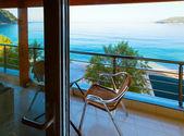 Sommaren bay havsutsikt från rummet — Stockfoto