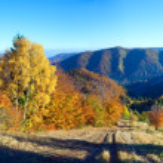 Autumn mountain panorama — Stock Photo #12202591