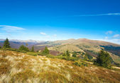 Sabah sonbahar dağ manzarası — Stok fotoğraf