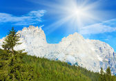 Dolomites mountain summer sunshine view — Stock Photo