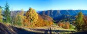 Sonbahar dağ panorama — Stok fotoğraf