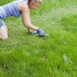 Mowing lawn — Stock Photo #10751096