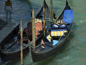 Gondolas await — Stock Photo