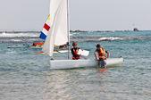 High school sailing team. — Stock Photo