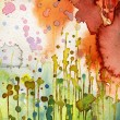 Stock Photo: Artistic background watercolor