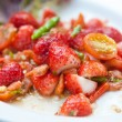 Royalty-Free Stock Photo: Strawberries spicy salad with chili, tomatoes and green vegetables
