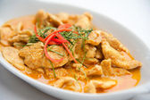 Dried red pork coconut curry (Panaeng) : Delicious and famous Thailand food — Stock Photo