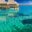 Water villas over tropical reef — Stock Photo