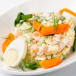 Salad Olivier. Russian traditional salad — Stock Photo #11955503