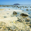 Northern Fuerteventura, view from Corralejo Flag Beach towards I — Stockfoto