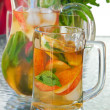 Stock Photo: Iced fruit tea