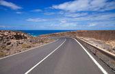 Fuerteventura, kanárské ostrovy, cesta k moři — Stock fotografie