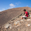 Teenage boy resting, hike up caldera — Stock Photo #10948966