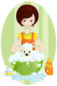 Pet groomer — Stock Vector