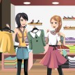 Royalty-Free Stock Vector Image: Shopping women