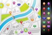 Gps 街地图 — 图库矢量图片