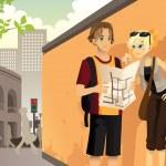 Couple tourist — Stock Vector #11586274
