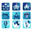 Theme park icons — Stock Vector #11600826