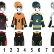Ice hockey jersey - Imagens vectoriais em stock