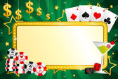 Gambling background — Stock Vector