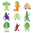 Vegetables characters — Stock Vector #12382096