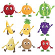 Fruits characters — Stock Vector
