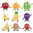Fruits characters — Stock Vector #12382098