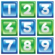 Numbers icon set — Stock Vector