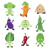 Vegetables characters — Stock Vector