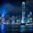 Hong Kong Lightshow - Stock Photo
