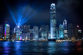 Hong kong lightshow — Foto Stock