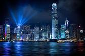 Hong Kong Lightshow — Stock Photo