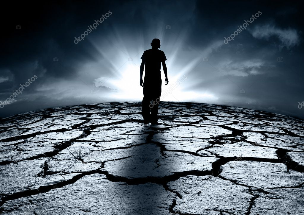 A depressed teenager walking towards the light — Stock Photo #11033654