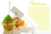 圣诞蛋糕 — 图库照片