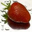 Stock Photo: Strawberry reflection
