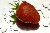 Strawberry reflection — Stock Photo